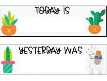 Llama Days of the Week
