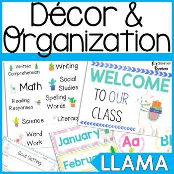 Llama Decor & Organization Bundle