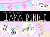 Editable Llama Classroom Decor Bundle with Llama Clipart Included