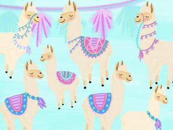 Editable Llama Classroom Decor Bundle with Llama Clipart Included