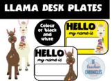 Llama Themed Name Plates