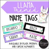 Llama Desk Name Tags- Editable