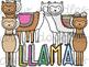 Llama Digital Clip Art Set- Color and Black Line COMBO