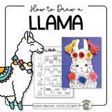 Llama Directed Drawing and Art Activity