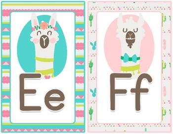 Llama Drama Collection: Alphabet Posters