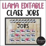 Llama Editable Classroom Jobs