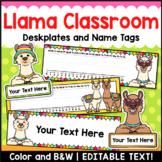 Llama Editable Name Plates and Name Tags