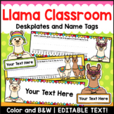 Llama Editable Name Plates and Name Tags