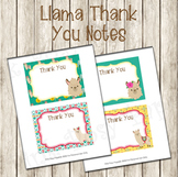 Llama Flat Thank You Note Cards