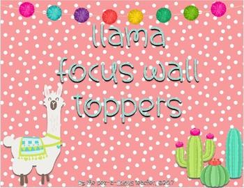 Llama Focus Wall Toppers/Headers