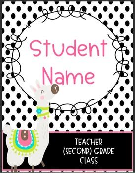 llama folder covers by fabulous second grade teachers pay teachers