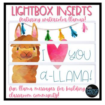 Lightbox Inserts - Llama Fun