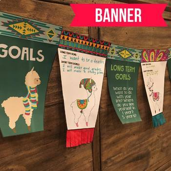 Goal Setting Banner with Llamas