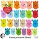 Llama Heads in 24 colors Clip Art, Animal Faces and Props, DIY Llama, AMB-2376