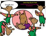 Llama Hop Clip Art Pack