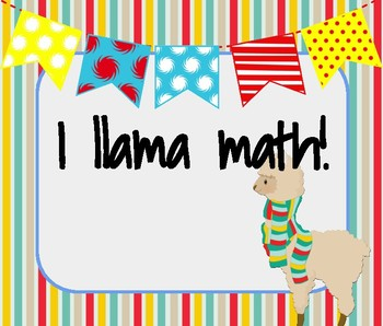 Llama-Inspired Math Motivational & Inspirational Posters