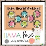 Llama Learning Ahead Bulletin Board or Ceiling Decor Set