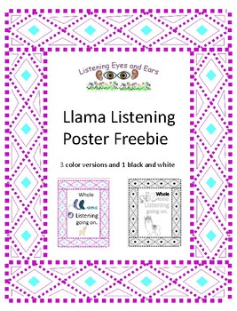 Llama Listening Going On Posters