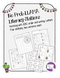 Llama Literacy Stations