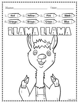 Llama Llama Activity Sheets Worksheets Teachers Pay Teachers