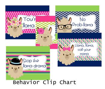 Llama Llama  Behavior Clip Chart