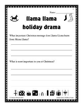 Llama Llama Holiday Drama Companion Worksheets