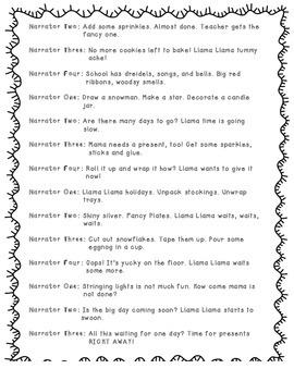 Llama Llama Holiday Drama Reader's Theater Script