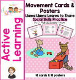 Llama Llama Learns to Share Movement Cards & Posters