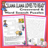 Llama Llama Loves to Read Activities Anna Dewdney Crossword and Word Searches