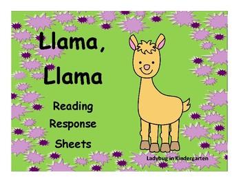Llama, Llama Reading Response Sheet