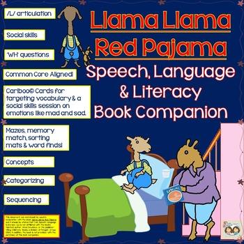 824f2701a8 ... Llama Llama Red Pajama Book Companion Speech
