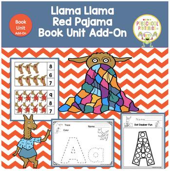 Llama Llama Red Pajama  Book Unit Add-On