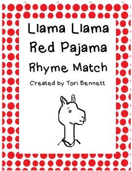 Llama Llama Red Pajama Rhyme Match Game