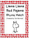 Llama Llama Red Pajama Rhyme Match Game