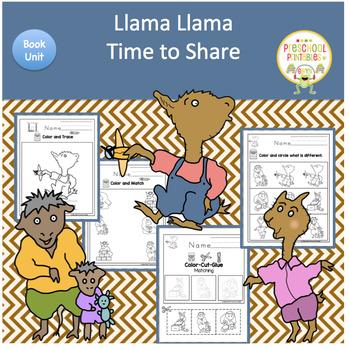 b2bc5317f0 Llama Llama Time to Share Book Unit by Book Units by Lynn