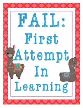 """Llama Llamas Growth Mindset Posters - 8.5""""x11"""", 18""""x24"""" - Ready for Printing"""