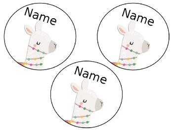 Llama Locker Tags Freebie (Editable)