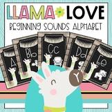 Llama Love Beginning Sounds Alphabet