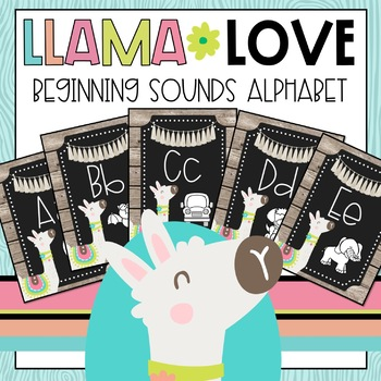 Llama Love Beginning Sounds Alphabet