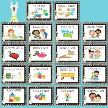 Llama Love Classroom Decor BUNDLE with EDITABLE FEATURES