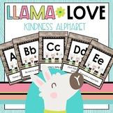Llama Love Kindness Alphabet