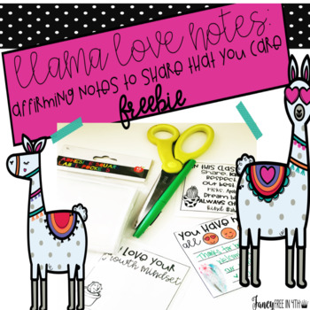 Llama Love Notes: A Valentine's Day Freebie