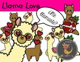 Llama Love Valentine's Day Clip Art