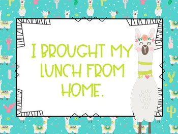 Llama Lunch Choices