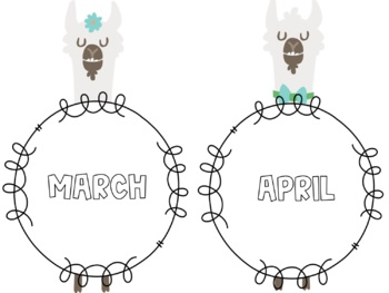 Llama Monthly Labels