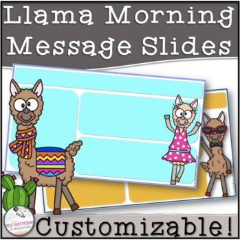 Llama Morning Message Slides