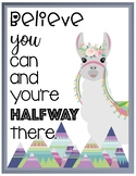 Llama Motivation Posters