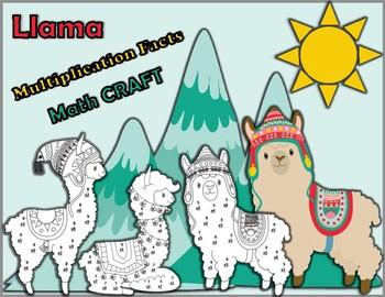 Llama Multiplication Facts Math CRAFT