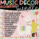 Llama Music Decor BUNDLE! {Posters, Symbols, Instruments,
