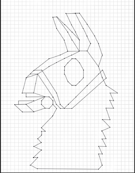 Fortnite Inspired Llama Mystery Picture Coordinate Plane